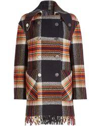 CALVIN KLEIN 205W39NYC - Wool Coat - Lyst