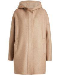 Harris Wharf London - Virgin Wool Coat With Hood - Lyst