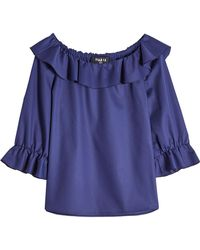 Paule Ka | Cotton Blouse With Ruffles | Lyst