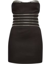 Alexander Wang - Bustier Dress With Cotton And Zippers - Lyst