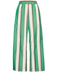 ODEEH - Striped Cotton Pants - Lyst