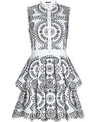Alexander McQueen - Broderie Anglaise Poplin Dress - Lyst