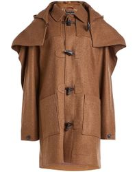 Y. Project - Layered Wool Duffle Coat - Lyst