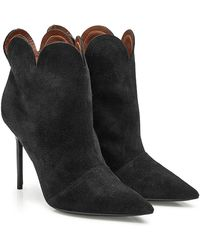 Burberry - Suede Ankle Boots - Lyst