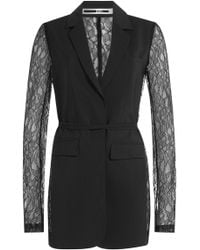 McQ - Blazer With Lace Sleeves - Lyst