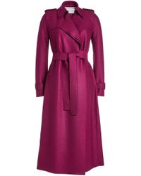 Harris Wharf London - Virgin Wool Trench Coat - Lyst