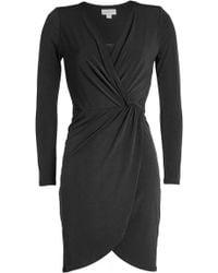 Velvet - Jersey Wrap Dress - Lyst