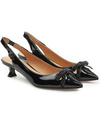 Marc Jacobs - Abbey Slingback Patent Leather Pumps - Lyst