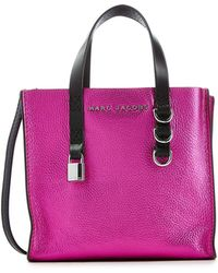 Marc Jacobs - Mini Grind Metallic Leather Tote - Lyst