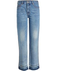 Marc Jacobs   Relaxed Jeans With Fringed Ankles   Lyst