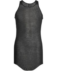 Rick Owens - Ribbed Tank With Silk - Lyst