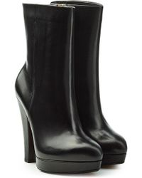 Sonia Rykiel - Leather Boots With Platform - Lyst