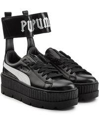 3bba9908a6c4 PUMA - X Fenty Rihanna Ankle Strap Sneaker Women s Shoes (trainers) In  Black -