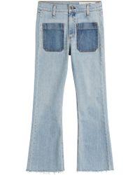Rag & Bone   Cropped Flared Jeans   Lyst