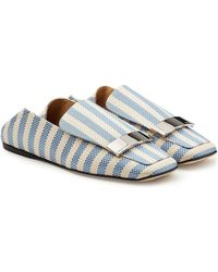 Sergio Rossi - Fabric Loafers - Lyst