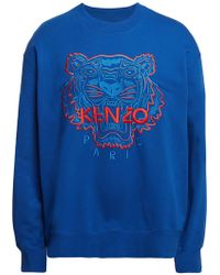 577ff51a6 Lyst - KENZO Embroidered Logo Sweatshirt in Gray for Men