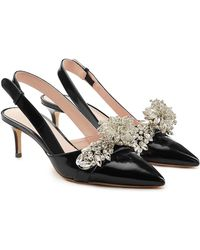 Christopher Kane - Embellished Patent Leather Slingback Court Shoes - Lyst