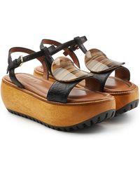 Marni - Zeppa Platform Sandals - Lyst