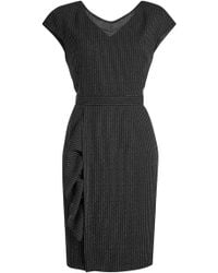 Boutique Moschino - Virgin Wool Dress With Pinstripes - Lyst