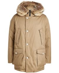 Woolrich - Down Parka With Fur-trimmed Hood - Lyst