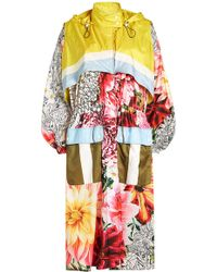 Mary Katrantzou - Speck Paint By Numbers Floral Coat - Lyst