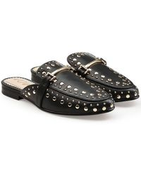 Sam Edelman - Embellished Leather Slip-on Loafers - Lyst