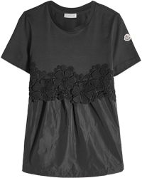Moncler - Drawstring Top With Lace - Lyst