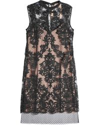 N°21 - Lace And Tulle Cocktail Dress - Lyst