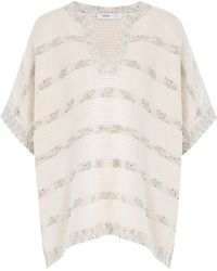 Vince - Knitted Cotton Cape - Lyst