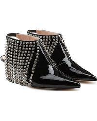 Christopher Kane - Patent Leather Boots With Swarovski Crystal Fringe - Lyst