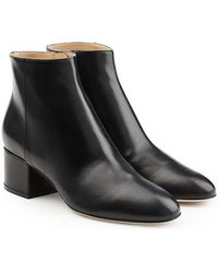 Sergio Rossi - Virginia Leather Ankle Boots - Lyst