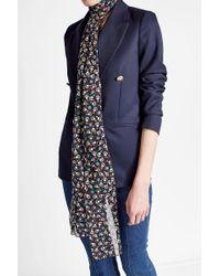 Anna Sui - Printed Silk Chiffon Scarf - Lyst