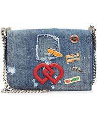DSquared² - Dd Crossbody Denim Bag - Lyst
