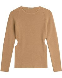 Emilia Wickstead - Wool Pullover With Cut-out Sides - Lyst