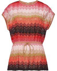 M Missoni - Knit Top With Metallic Thread - Lyst