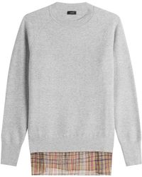 JOSEPH - Wool Pullover With Printed Silk - Lyst