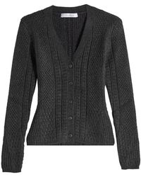 Max Mara - Cardigan With Wool And Camel - Lyst
