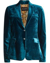 Etro - Velvet Jacket With Silk - Lyst