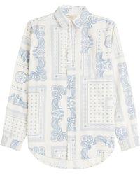 Current/Elliott - Paisley Print Cotton Shirt - Lyst