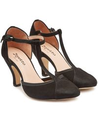 Repetto - Baya Suede Court Shoes - Lyst