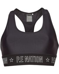 P.E Nation - Somersault Cropped Sports Bra - Lyst