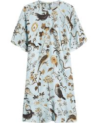RED Valentino - Printed Silk Dress - Lyst
