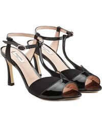 Repetto - Irma Sandals In Patent Leather And Satin - Lyst