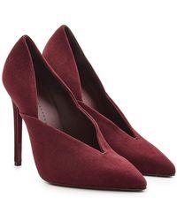 Victoria Beckham - Eva Suede Court Shoes - Lyst