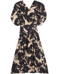 N°21 - Printed Silk Dress - Lyst