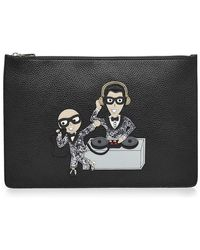 Dolce & Gabbana - Zipped Leather Pouch - Lyst