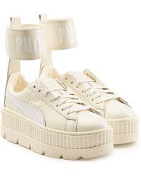 PUMA - Ankle Strap Leather Creeper Trainers - Lyst