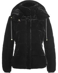 Closed - Velvet Jacket With Hood - Lyst