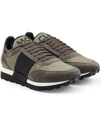 Moncler - Trainers With Suede And Fabric - Lyst