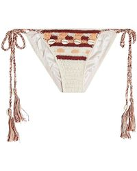 Anna Kosturova - Embellished Crochet Bikini Bottoms - Lyst